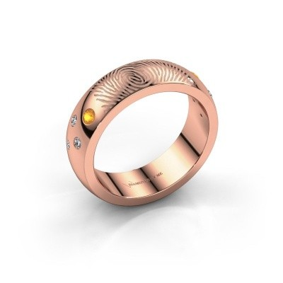 Foto van Ring Minke 375 rosé goud citrien 2 mm
