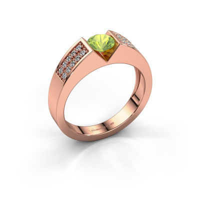 Engagement ring Lizzy 3 585 rose gold peridot 5 mm