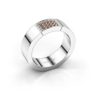 Foto van Ring Zoey 585 witgoud bruine diamant 0.15 crt