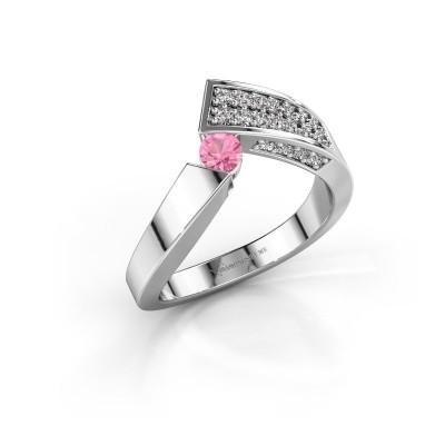 Ring Evie 585 Weißgold Pink Saphir 3.4 mm