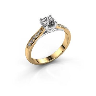 Verlovingsring Mia 2 585 goud diamant 0.50 crt