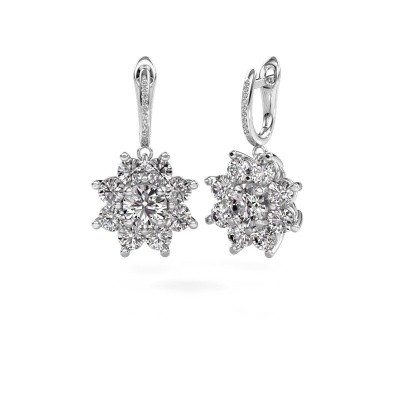 Picture of Drop earrings Camille 2 585 white gold diamond 6.045 crt