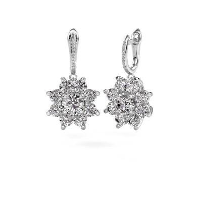 Bild von Ohrhänger Camille 2 585 Weißgold Diamant 6.045 crt