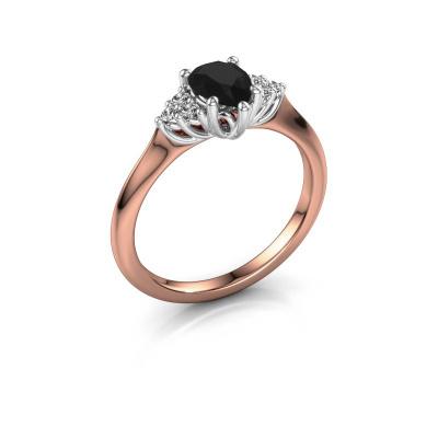 Verlobungsring Felipa per 585 Roségold Schwarz Diamant 1.115 crt