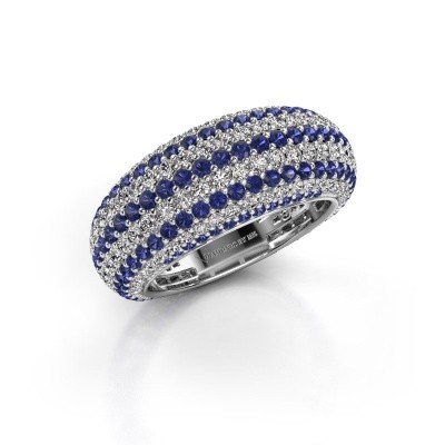 Picture of Ring Lyndia 585 white gold sapphire 0.8 mm