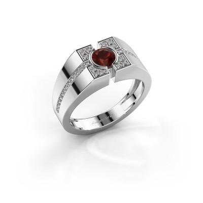 Men's ring Thijmen 925 silver garnet 5 mm