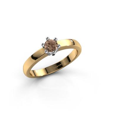 Engagement ring Luna 1 585 gold brown diamond 0.20 crt