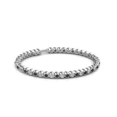 Foto van Tennisarmband Asley 585 witgoud zwarte diamant 4.84 crt