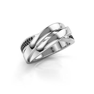 Bild von Ring Tegan 925 Silber Schwarz Diamant 0.198 crt