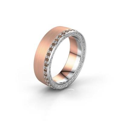 Wedding ring WH2224L26C8 585 rose gold brown diamond 0.54 crt x2.2 mm