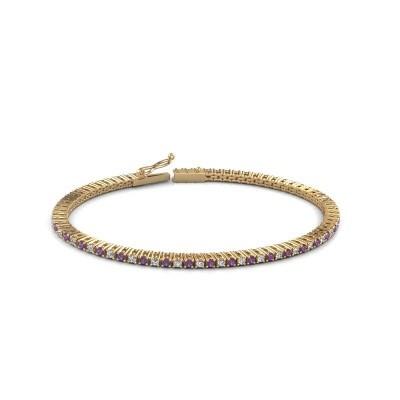 Tennis bracelet Simone 375 gold amethyst 2 mm