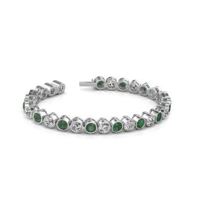 Bild von Tennis Armband Mandi 585 Weißgold Smaragd 5 mm