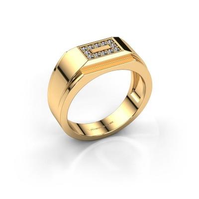 Foto van Heren ring Roan 375 goud diamant 0.18 crt