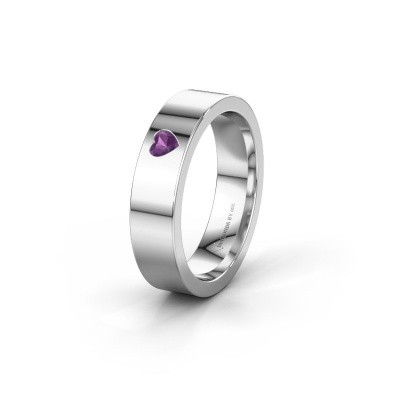 Picture of Wedding ring WH0101L15BPHRT 375 white gold amethyst ±0.20x0.08 in