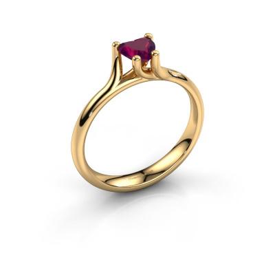 Engagement ring Dewi Heart 585 gold rhodolite 5 mm