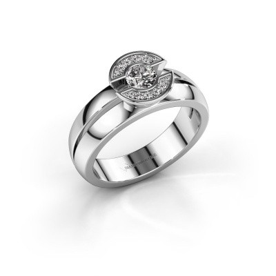 Ring Jeanet 1 585 witgoud diamant 0.30 crt