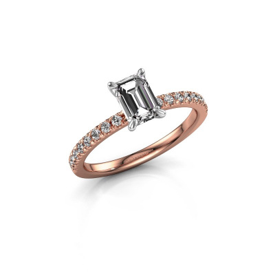 Picture of Engagement ring Crystal EME 2 585 rose gold lab-grown diamond 0.90 crt