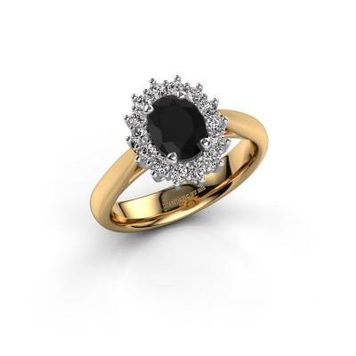 Foto van Verlovingsring Margien 1 585 goud zwarte diamant 0.96 crt