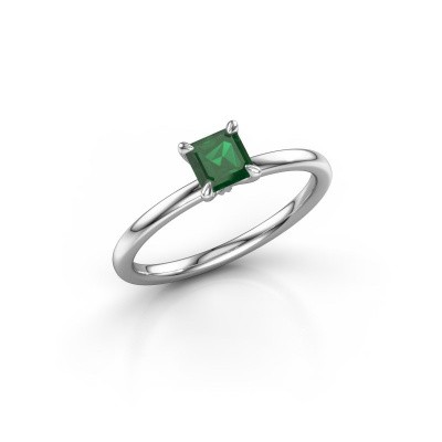 Verlobungsring Crystal ASS 1 585 Weißgold Smaragd 5 mm