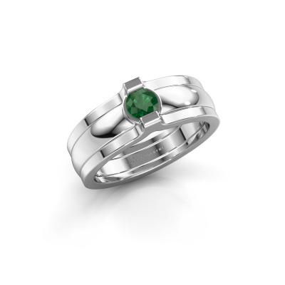 Ring Jade 925 Silber Smaragd 4 mm