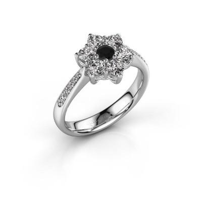 Verlovingsring Chantal 2 925 zilver zwarte diamant 0.12 crt
