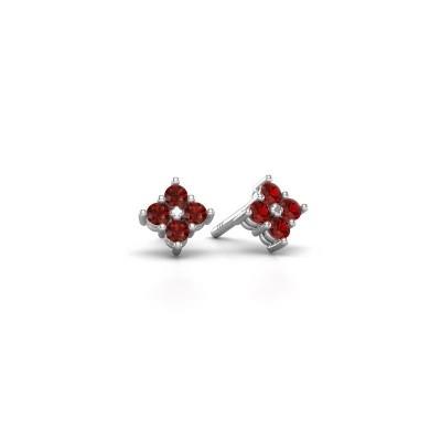 Picture of Stud earrings Maryetta 925 silver garnet 2 mm