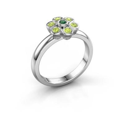 Ring Aaliyah 950 platina smaragd 2 mm