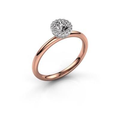 Verlovingsring Queen 585 rosé goud lab-grown diamant 0.38 crt