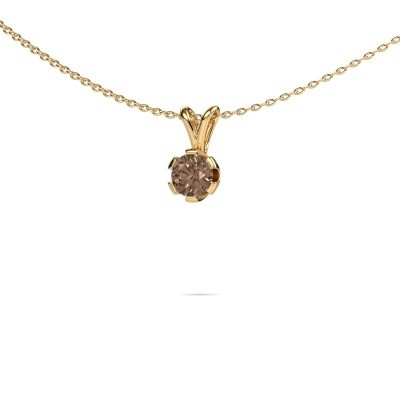 Foto van Ketting Julia 375 goud bruine diamant 0.50 crt