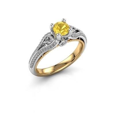 Foto van Verlovingsring Nikita 585 goud gele saffier 5 mm