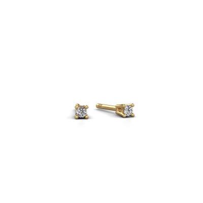 Bild von Ohrsteckers Jannette 585 Gold Diamant 0.20 crt