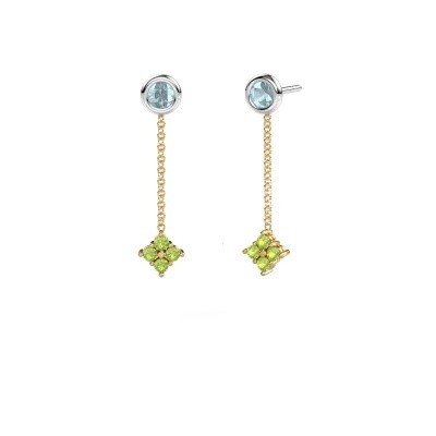 Picture of Drop earrings Ardith 585 gold peridot 2 mm