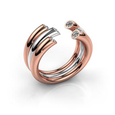 Ring Noelle 585 Roségold Diamant 0.33 crt