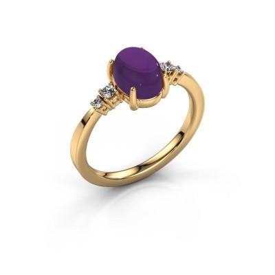 Ring Jelke 585 goud amethist 8x6 mm