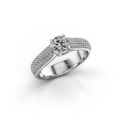 Foto van Verlovingsring Leoness 585 witgoud diamant 0.50 crt