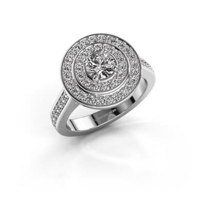 Foto van Ring Alecia 2 950 platina diamant 1.338 crt