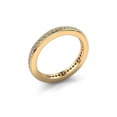 Foto van Aanschuifring Elvire 2 375 goud diamant 0.345 crt