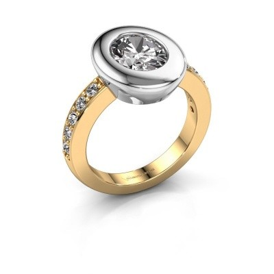 Ring Selene 2 585 gold zirconia 9x7 mm