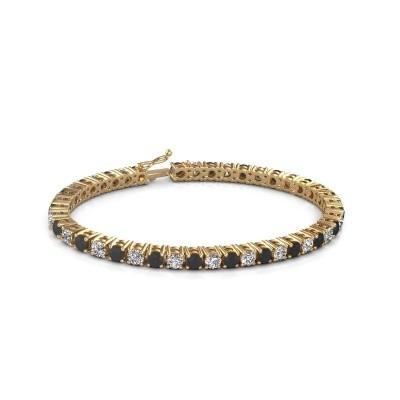 Tennis bracelet Karin 585 gold black diamond 11.85 crt