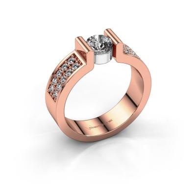 Engagement ring Isabel 3 585 rose gold zirconia 5 mm