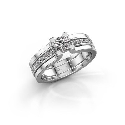 Foto van Verlovingsring Myrthe 950 platina diamant 0.568 crt