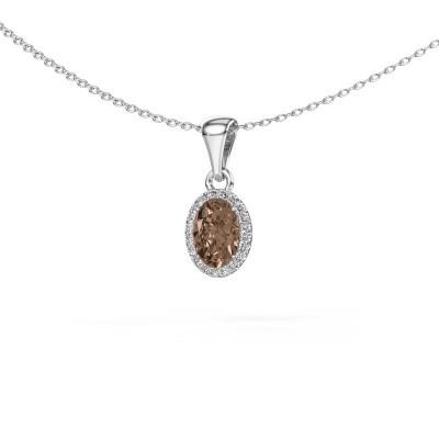 Foto van Hanger Seline 950 platina bruine diamant 0.90 crt