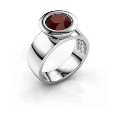 Ring Maxime 925 silver garnet 8 mm