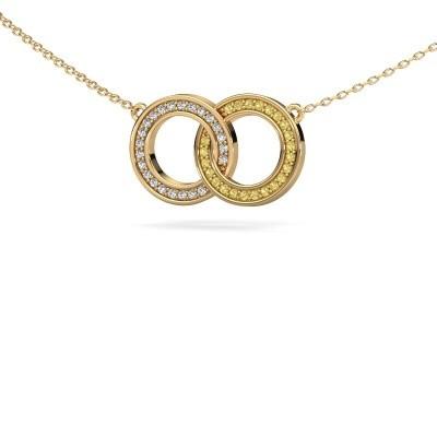 Ketting Circles 1 375 goud gele saffier 1 mm