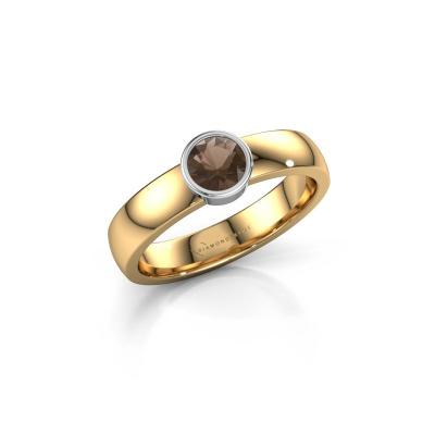 Foto van Ring Ise 1 585 goud rookkwarts 4.7 mm