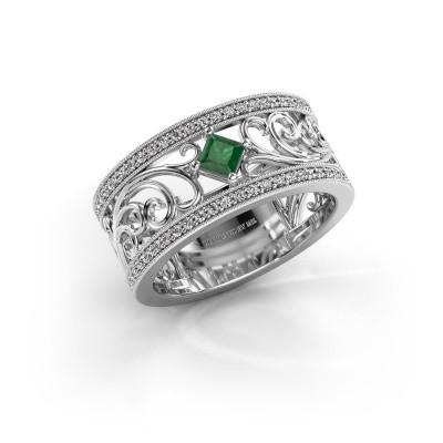 Ring Danae 950 platina smaragd 3 mm