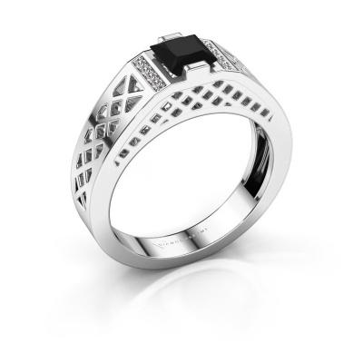 Herrenring Jonathan 585 Weißgold Schwarz Diamant 0.990 crt