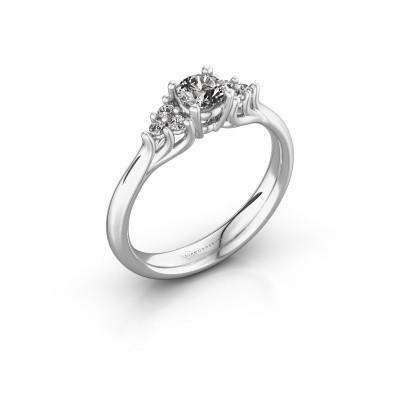 Foto van Verlovingsring Monika RND 950 platina diamant 0.408 crt