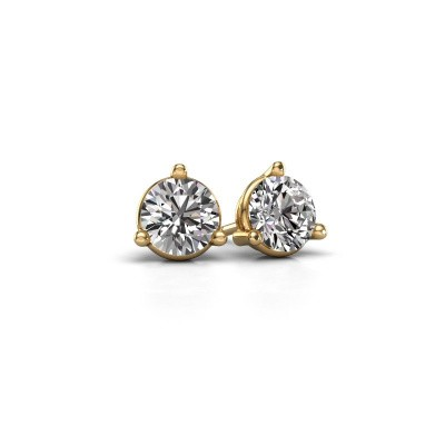Photo de Clous d'oreilles Somer 375 or jaune diamant 1.00 crt