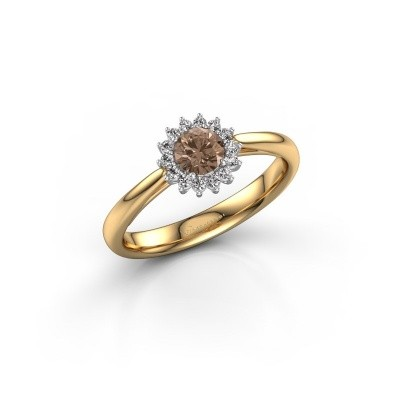 Engagement ring Tilly RND 1 585 gold brown diamond 0.30 crt